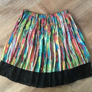 PRABAL GURUNG for Target Print & Lace Pleat Skirt